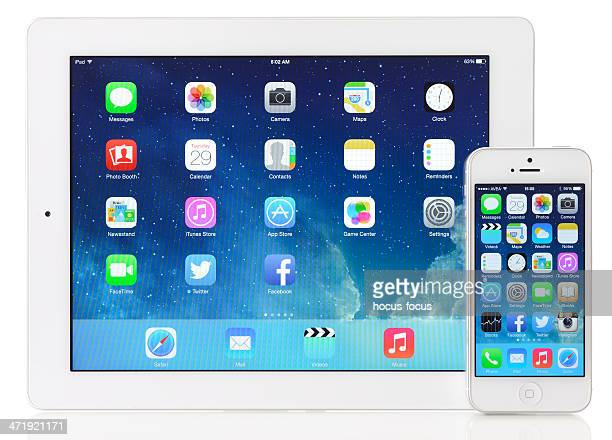 New iOS 7 on Apple iPad 3 & iPhone 5