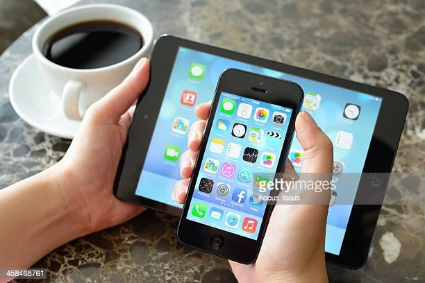 Nouveau iOS 7 écran sur iPad Mini et iPhone 5