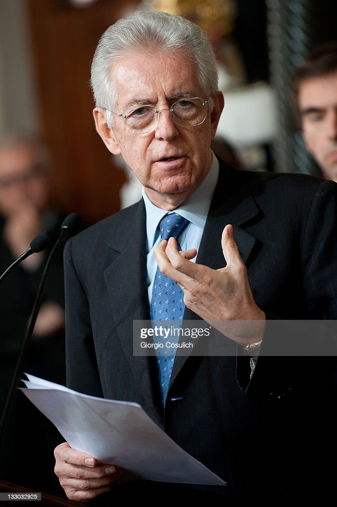 Prime Minister Designate Mario Monti Presents New Italian Government