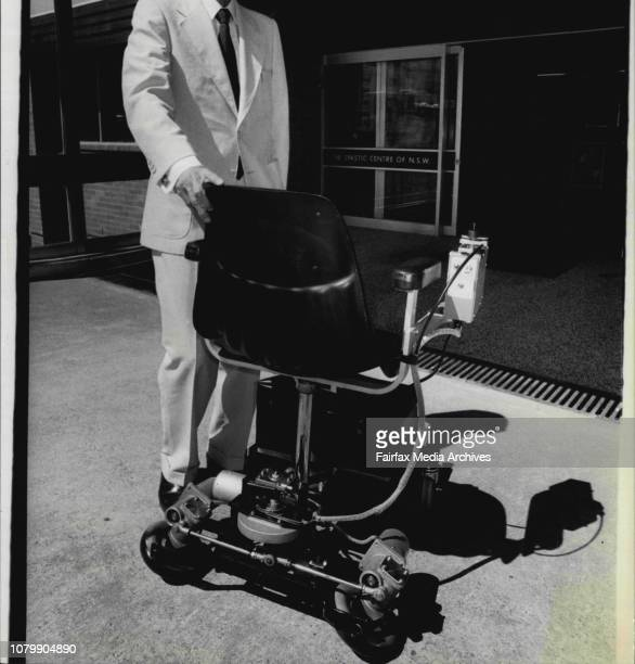 New Japanese designed wheelchair for disabled St Spastic centre Lambie Heights unveiled todayThe designer Mr Yoshire Shiraishi with his Jyre...