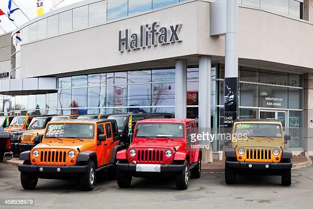 New Jeeps at Car Dealership