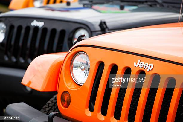 new jeeps front fascia - jeep wrangler stock photos and pictures