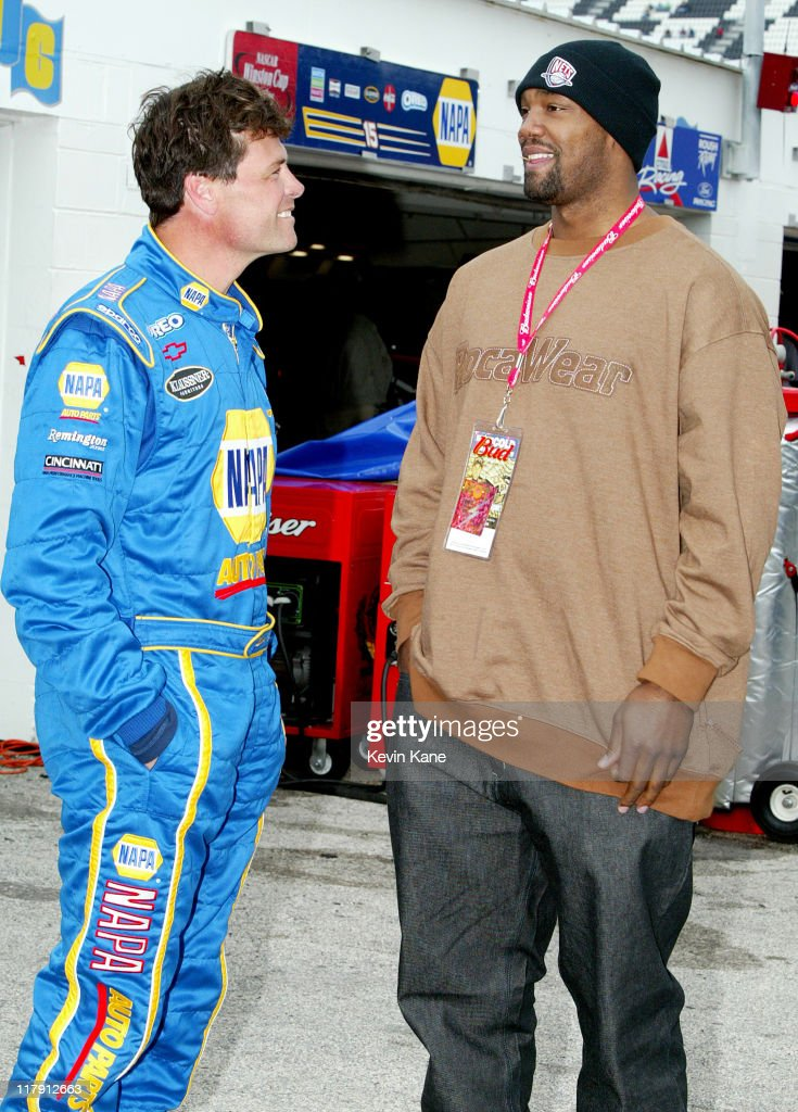 New Jersey Nets Forward Rodney Rogers visits NASCAR at Daytona