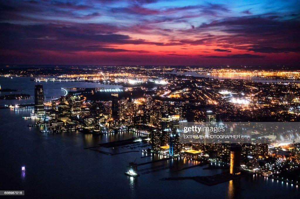 New Jersey at night : Stock Photo