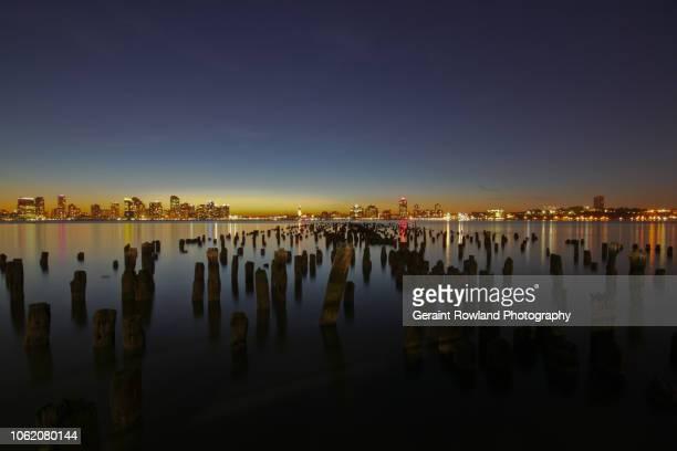 New Jersey City Skyline at Sunset