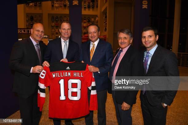 New Jersey Devils Alumnus and MSG Broadcaster Ken Daneyko, Harris Blitzer Sports & Entertainment President Hugh Weber, William Hill CEO Joe Asher,...