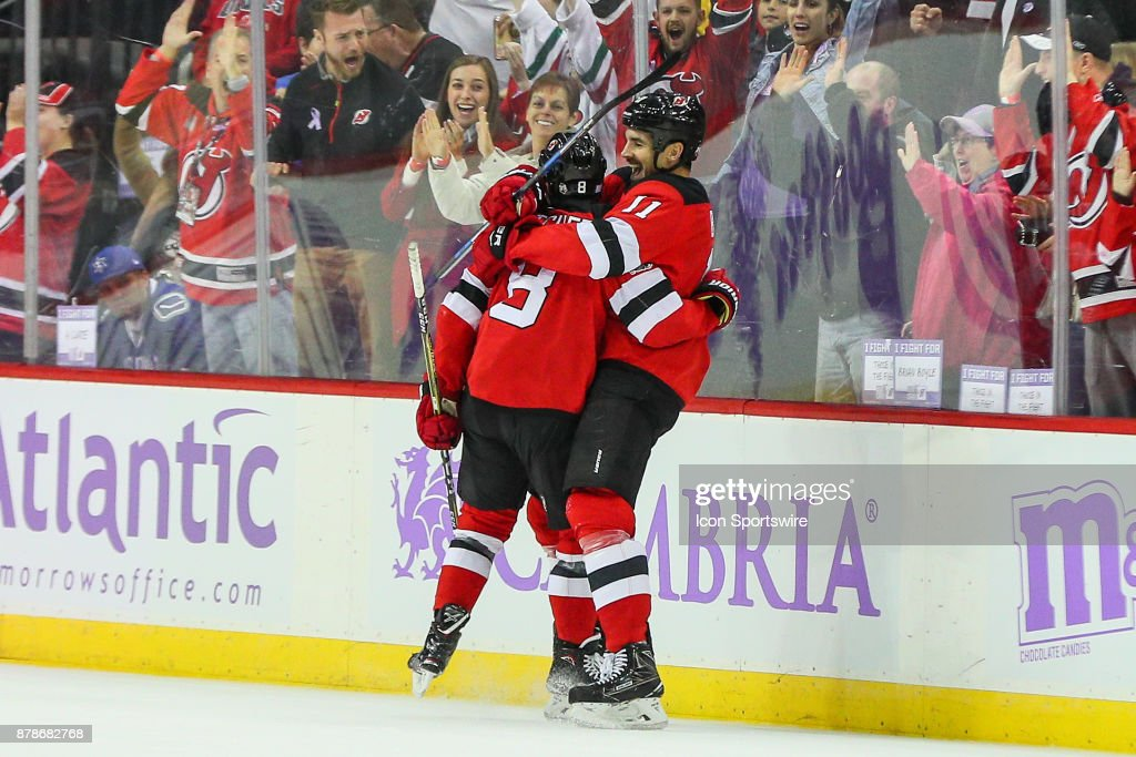 New Jersey Devils center Brian Boyle celebrates with teammate New ... 0132523c2