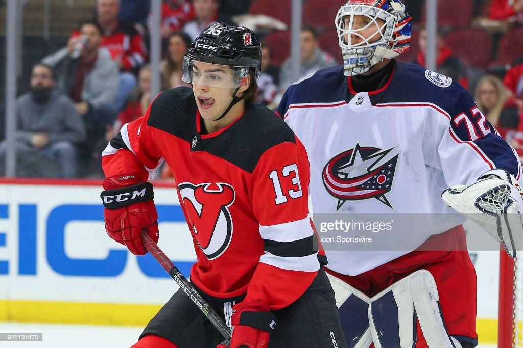 NHL: FEB 20 Blue Jackets at Devils : News Photo