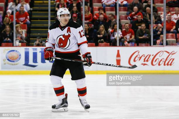 New Jersey Devils forward Michael Cammalleri skates during a regular season NHL hockey game between the New Jersey Devils and the Detroit Red Wings...