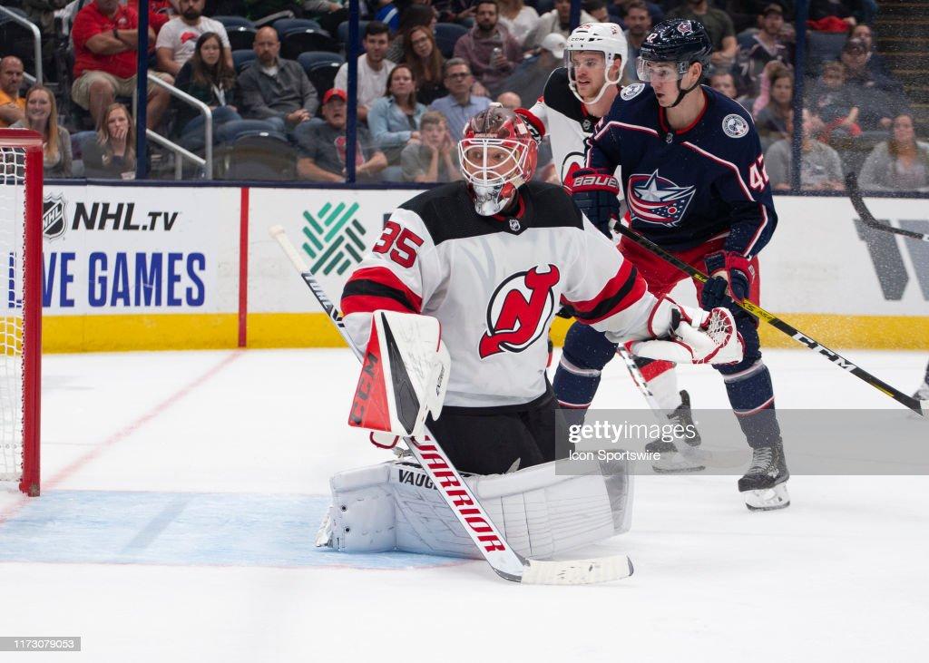 NHL: SEP 27 Preseason - Devils at Blue Jackets : News Photo