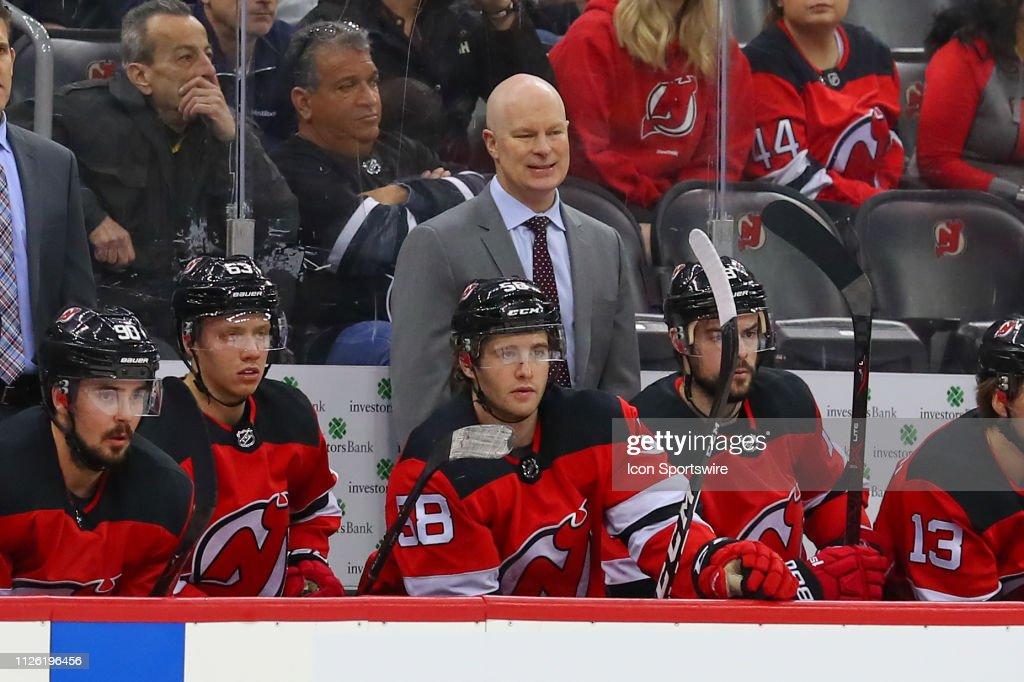 NHL: FEB 19 Penguins at Devils : News Photo