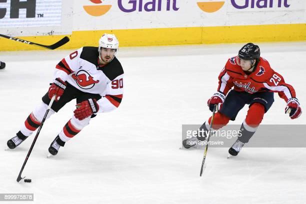 453f48c68c1 New Jersey Devils left wing Marcus Johansson skates in the third period  against Washington Capitals defenseman