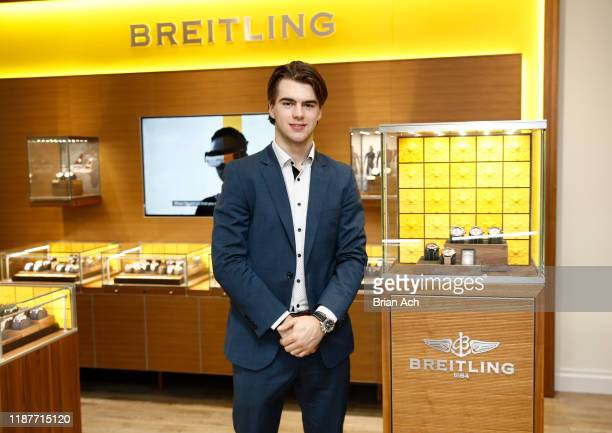 New Jersey Devils Player and Breitling Ambassador Nico Hischier attends as Breitling W Kodak Jewelers celebrate the allnew Breitling Avenger...