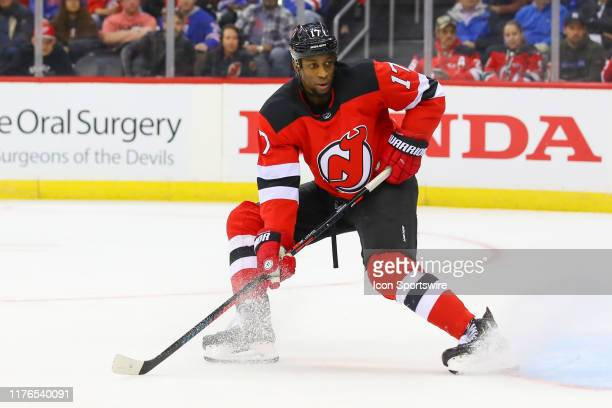 New Jersey Devils right wing Wayne Simmonds skates during the first period of the National Hockey League game between the New Jersey Devils and the...