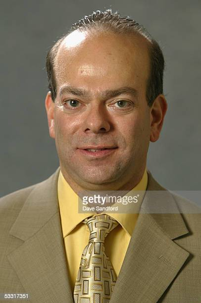 New Jersey Devils scout Mike Levine poses for a portrait during the 2005 National Hockey League Draft on July 30 2005 at the Westin Hotel in Ottawa...