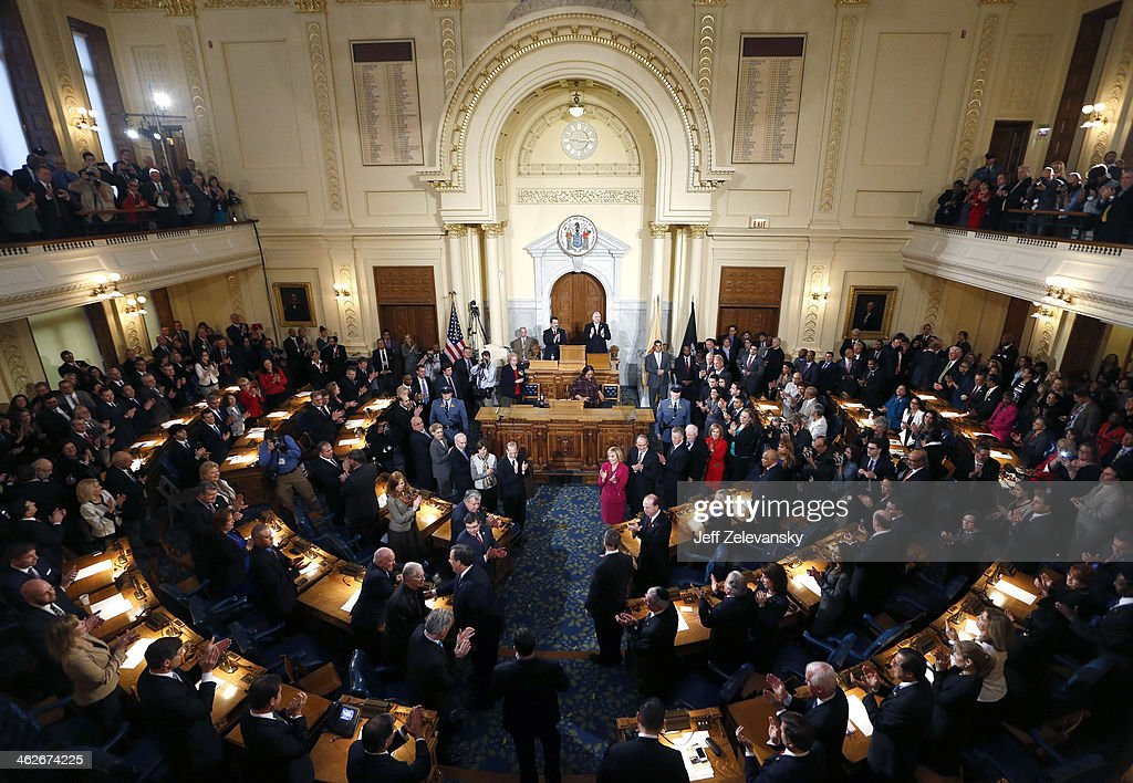 Chris Christie Delivers NJ State Of The State Address : News Photo