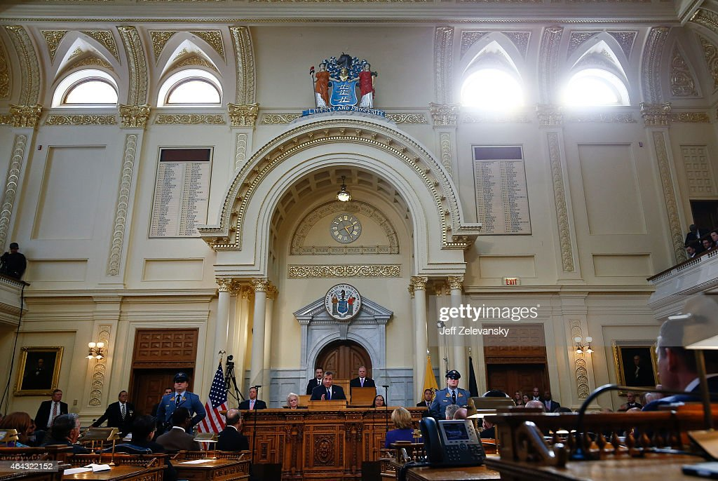 Chris Christie Delivers Fiscal Year 2016 Budget Address : News Photo