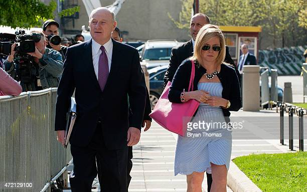 New Jersey Gov Chris Christie's former deputy chief of staff Bridget Kelly arrives at the federal courthouse on May 4 2015 in Newark New Jersey Kelly...