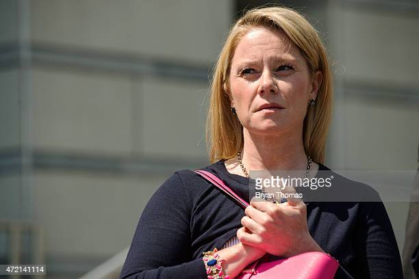 New Jersey Gov Chris Christie's former deputy chief of staff Bridget Kelly attends a press conference in front of the federal courthouse on May 4...