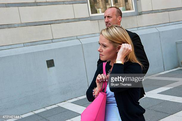New Jersey Gov Chris Christie's former deputy chief of staff Bridget Kelly leaves the federal courthouse on May 4 2015 in Newark New Jersey Kelly was...