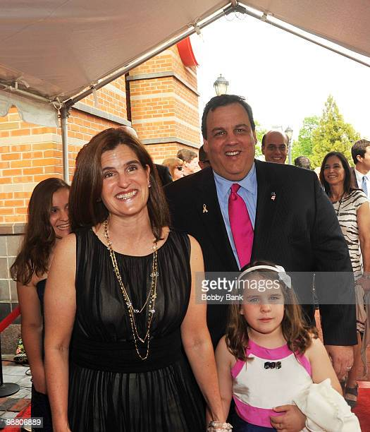 New Jersey Governor Chris Christie and his family attend the 3rd Annual New Jersey Hall of Fame Induction Ceremony at the New Jersey Performing Arts...