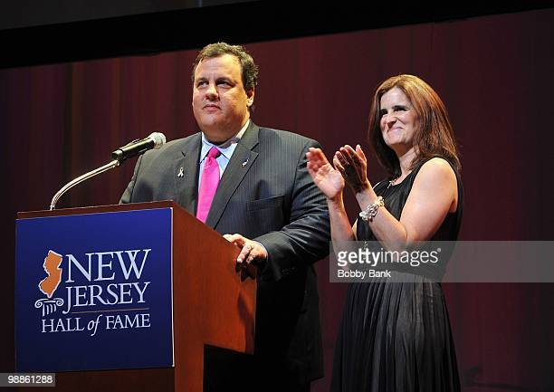 New Jersey Governor Chris Christie and his wife Mary Pat Christie attend the 3rd Annual New Jersey Hall of Fame Induction Ceremony at the New Jersey...