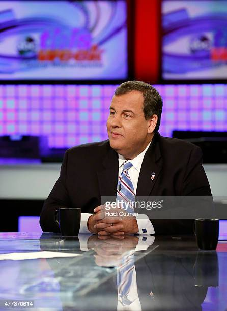 WEEK New Jersey Governor Chris Christie appears on THIS WEEK WITH GEORGE STEPHANOPOULOS 6/14/15 airing on the Walt Disney Television via Getty Images...