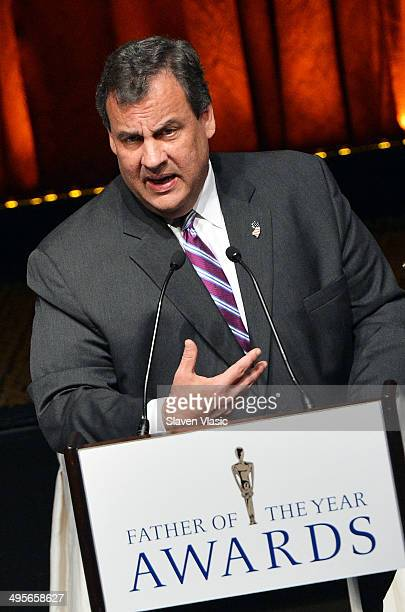 New Jersey Governor Chris Christie attends the 2014 Father Of The Year Awards at New York Hilton on June 4 2014 in New York City