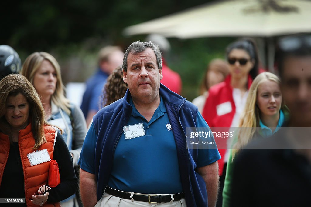 New Jersey Governor Chris Christie attends the Allen & Company Sun Valley Conference on July 11, 2015 in Sun Valley, Idaho. Many of the worlds wealthiest and most powerful business people from media, finance, and technology attend the annual week-long conference which is in its 33rd year.