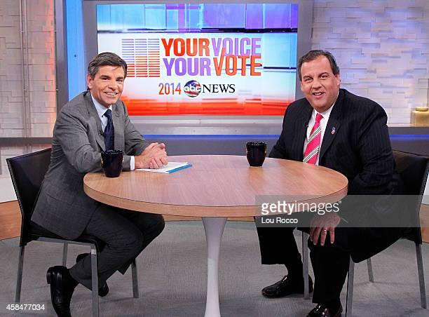 AMERICA New Jersey Governor Chris Christie is a guest on Good Morning America 11/5/14 airing on the Walt Disney Television via Getty Images...