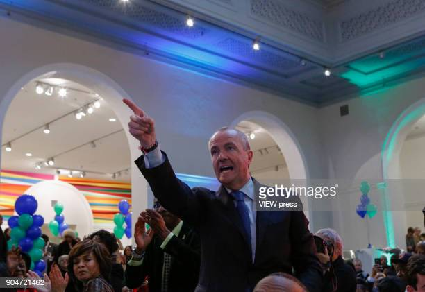 New Jersey Governor elect Phil Murphy attends The Inaugural Kickoff at the Newark Museum on January 12 2018 in Newark New Jersey