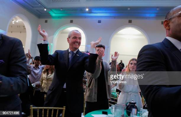 New Jersey Governor elect Phil Murphy attends The Inaugural Kickoff at the Newark Museum on January 12 2018 in New Jersey