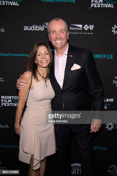 New jersey Governor Phil Murphy and his wife First Lady Tammy Murphy attend the Montclair Film Festival on May 5, 2018 in Montclair, NJ.