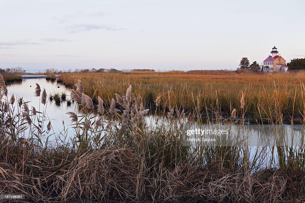 USA, New Jersey, Heislerville, Maurice River Lighthouse : Stock Photo