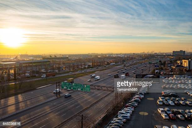 New Jersey Highway in Morning