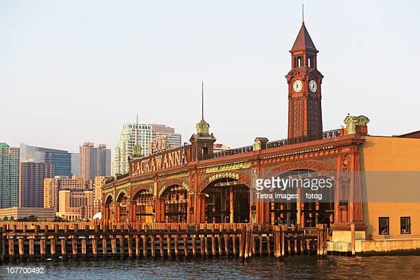 usa, new jersey, hoboken, historic train station - new jersey stock-fotos und bilder
