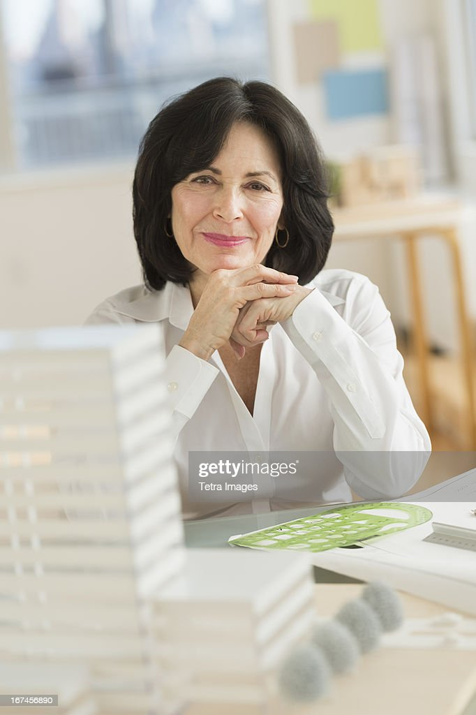 USA, New Jersey, Jersey City, Architect during work : Stock Photo