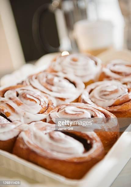 USA, New Jersey, Jersey City, Close up of cinnamon buns