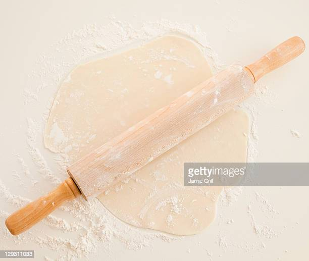 USA, New Jersey, Jersey City, Close up of dough and roller pin