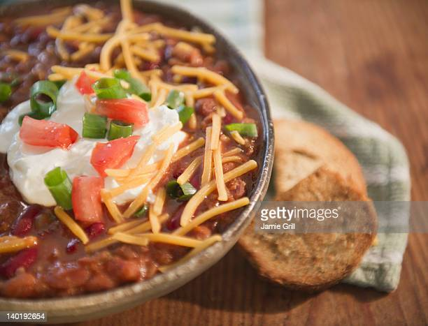 USA, New Jersey, Jersey City, Close up of stew with chili