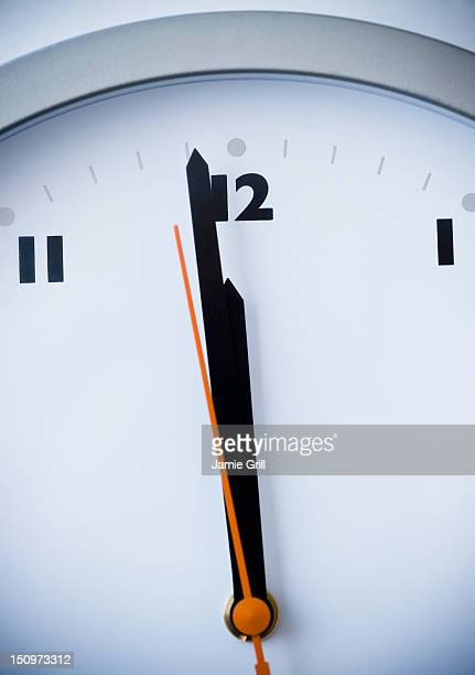 usa, new jersey, jersey city, close-up of clock - midnight stock pictures, royalty-free photos & images