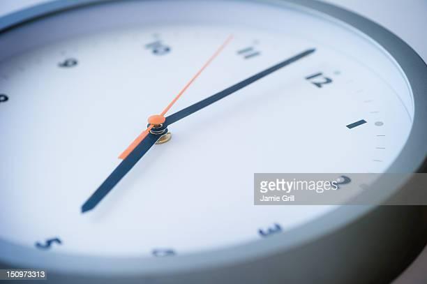USA, New Jersey, Jersey City, Close-up of clock