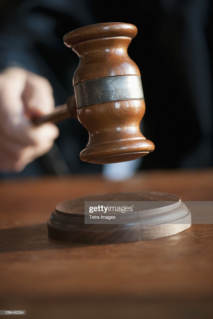 USA, New Jersey, Jersey City, Judges gavel : Stock Photo