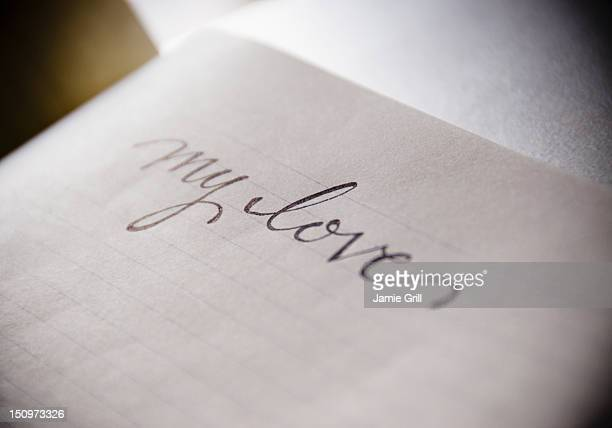 usa, new jersey, jersey city, love letter - love letter stock photos and pictures