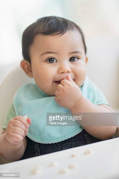 USA, New Jersey, Jersey City, Portrait of baby boy (6-11 months)