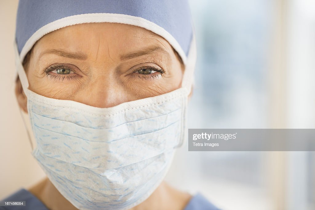 USA, New Jersey, Jersey City, Portrait of female surgeon : Stock Photo