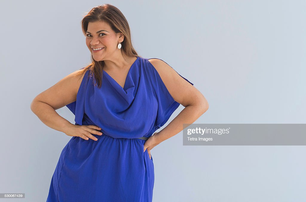 USA, New Jersey, Jersey City, Portrait of happy woman : Stock Photo