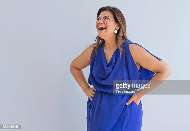 USA, New Jersey, Jersey City, Portrait of happy woman