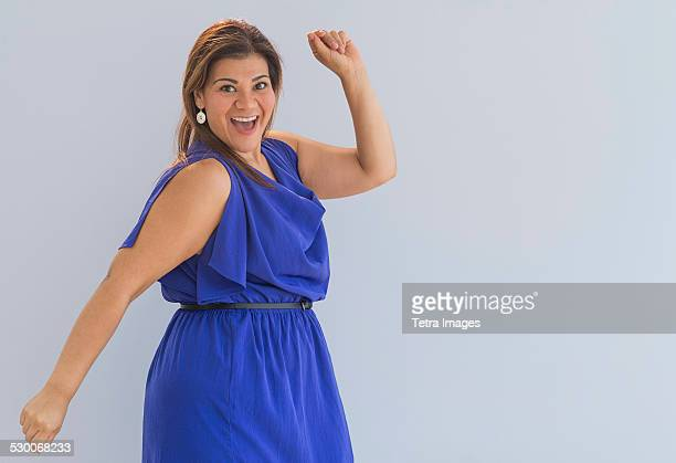 USA, New Jersey, Jersey City, Portrait of happy woman