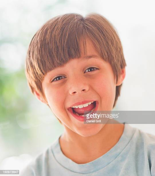USA, New Jersey, Jersey City, Portrait of laughing boy (10-11 years)